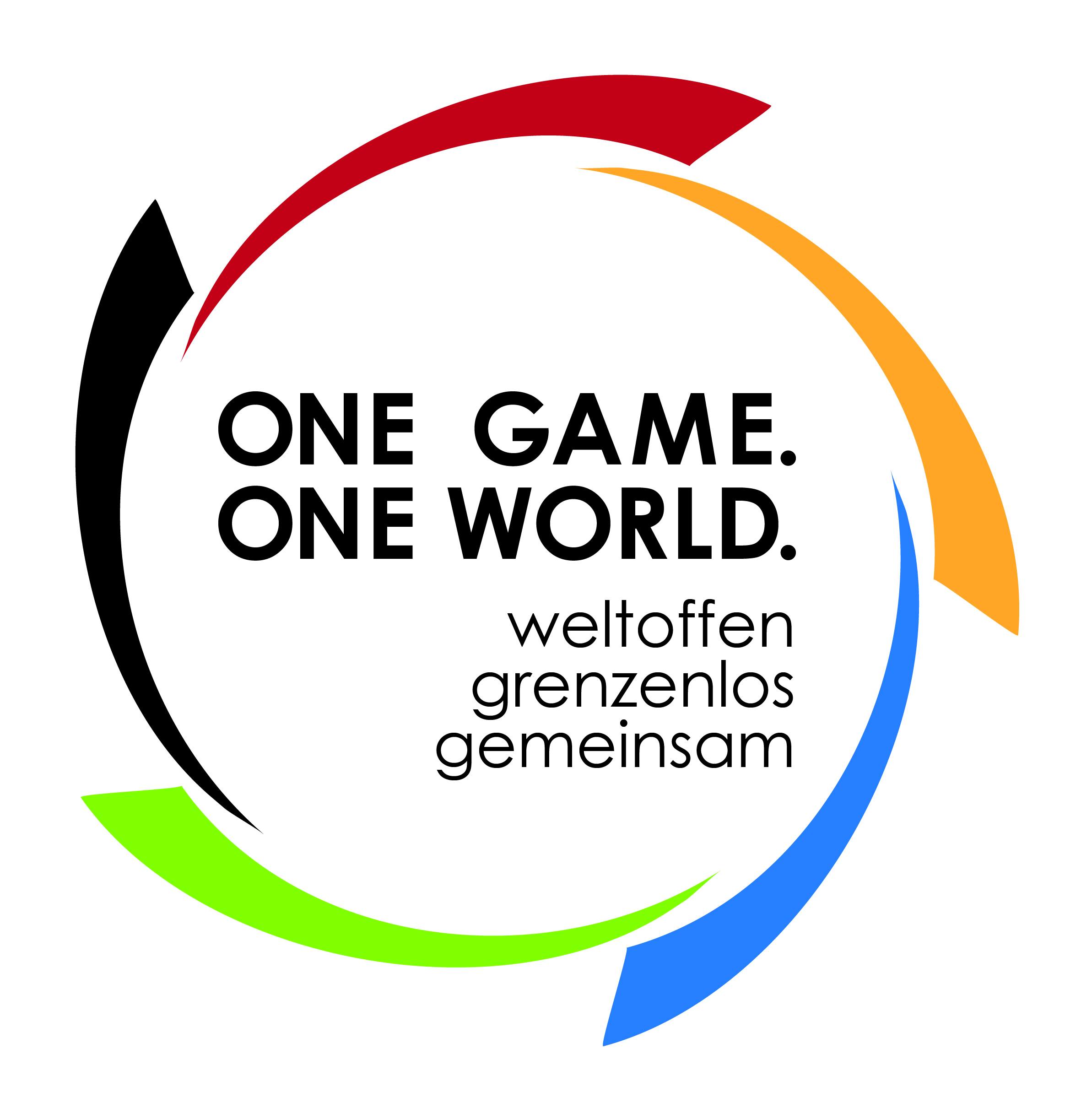 One Game. One World. Logo mit Slogan