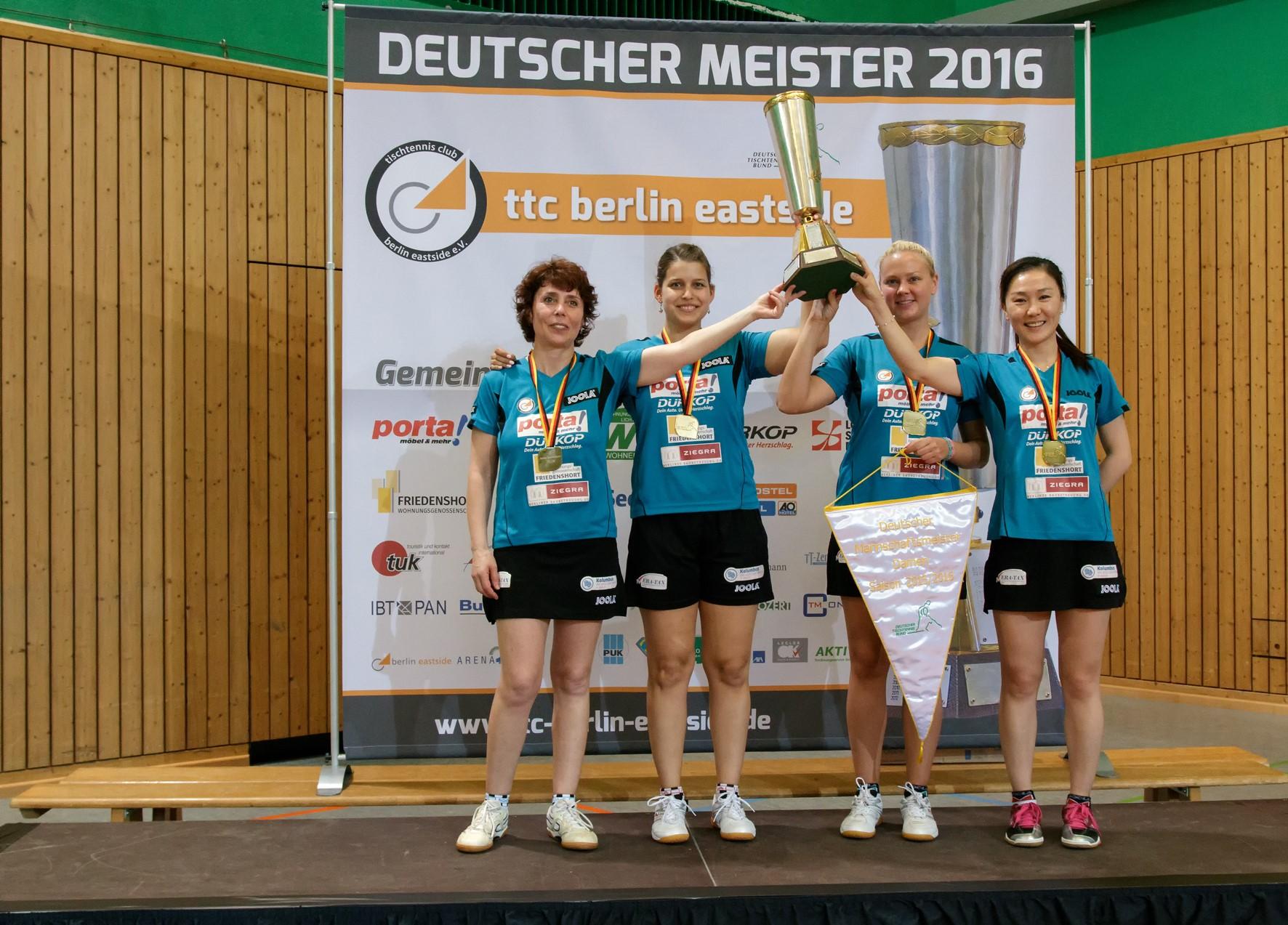 ttc berlin eastside - Zum dritten Mal in Folge Deutscher Meister!