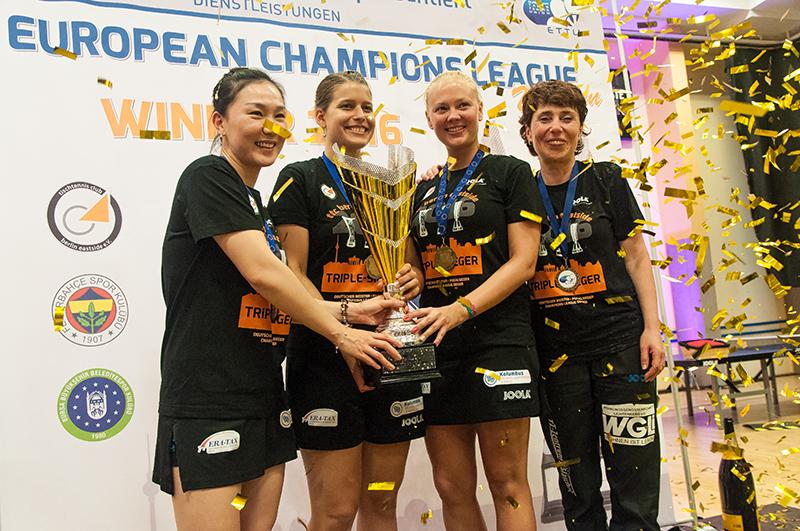 Zweites Triple für den ttc berlin eastside: Damen sichern sich Champions-League-Titel mit 3:0