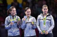 Petrissa Solja und Shan Xiaona (ttc berlin eastside e.V.) holen Silber für Deutschland bei den Olympischen Spielen