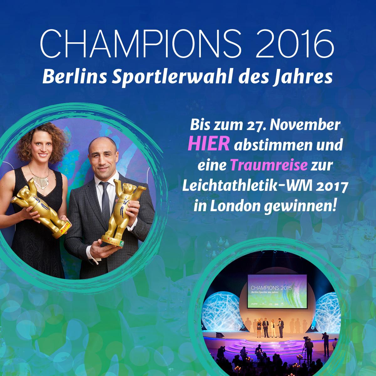 Champions 2016: ttc berlin eastside und Peti Solja zu Berlins Sportler des Jahres nominiert!