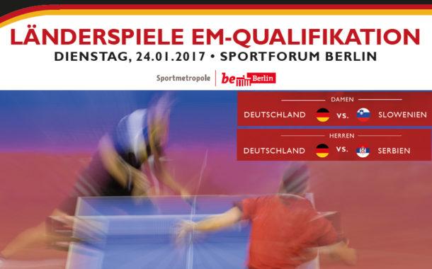 Aktualisiert: Doppelländerspieltag am 24. Januar 2017 in Berlin