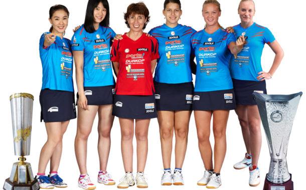 Alle guten Dinge sind vier! - Damen vom ttc berlin eastside werden erneut Champions League Sieger!