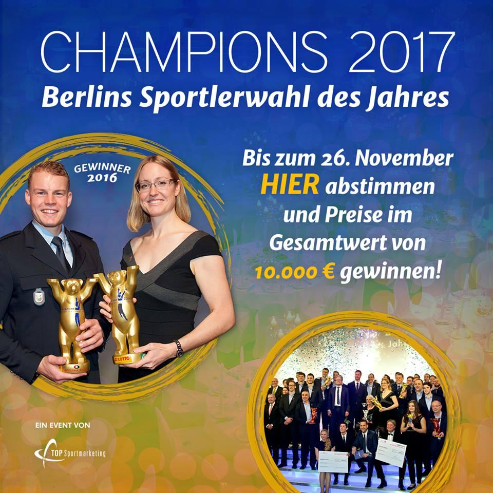 Champions 2017: Vier Kategorien - 4x Tischtennis!