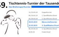 59. Tischtennis-Turnier der Tausende
