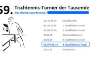 59. Tischtennis-Turnier der Tausende – 4. Qualifikation Einzel
