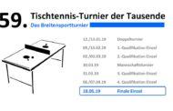 59. Tischtennis-Turnier der Tausende – FINALE!