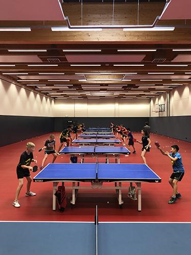 Saisonvorbereitung im deutschen Tischtennis Zentrum Düsseldorf