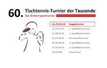 safe the date: 60. Tischtennisturnier der Tausende!
