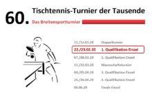 TTT - 1. Qualifikationsturnier am kommenden Wochenende