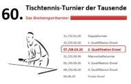 TTT - 2. Qualifikationsturnier am kommenden Wochenende