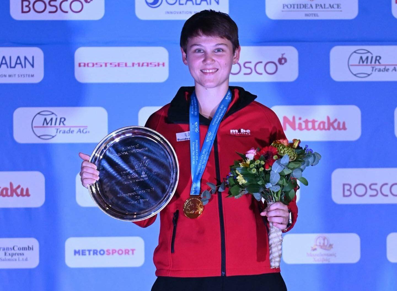 Nina Mittelham gewinnt das Europe TOP 16 Turnier